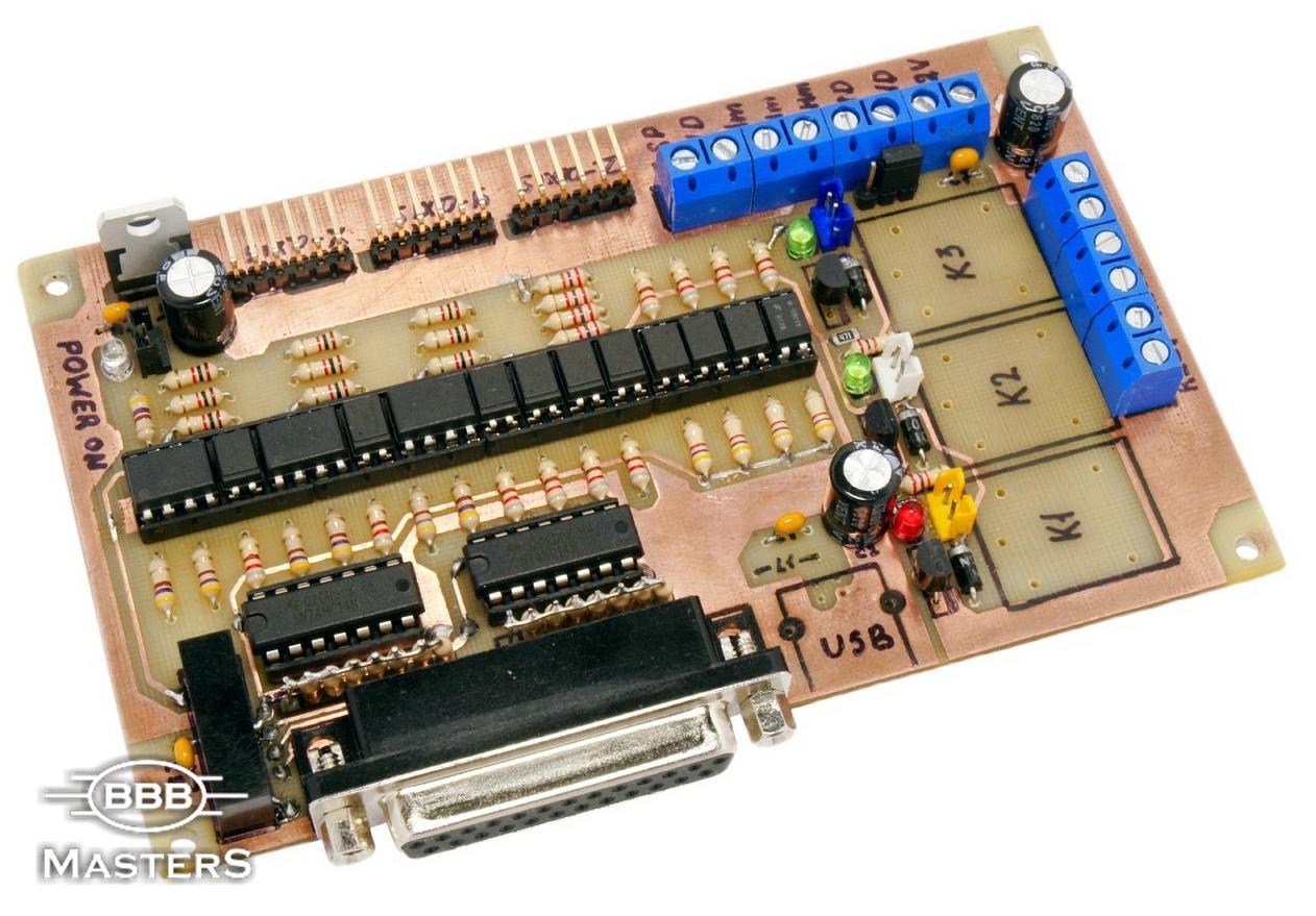 простая схема контроллера для биполярного двигателя